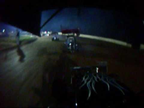 Linda's Speedway in car camera  270 micro sprint CJ Heinig