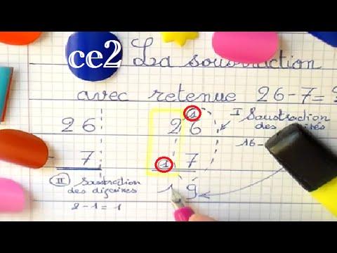 Soustraction avec retenue apprendre les maths en ce1 ce2 cm1 youtube - Soustraction avec retenue cm1 ...