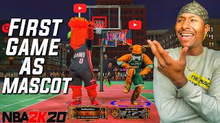 MASCOT DUKE Is In The Building! First Game as a MASCOT With The Best Build On NBA 2K20! DEMIGOD!
