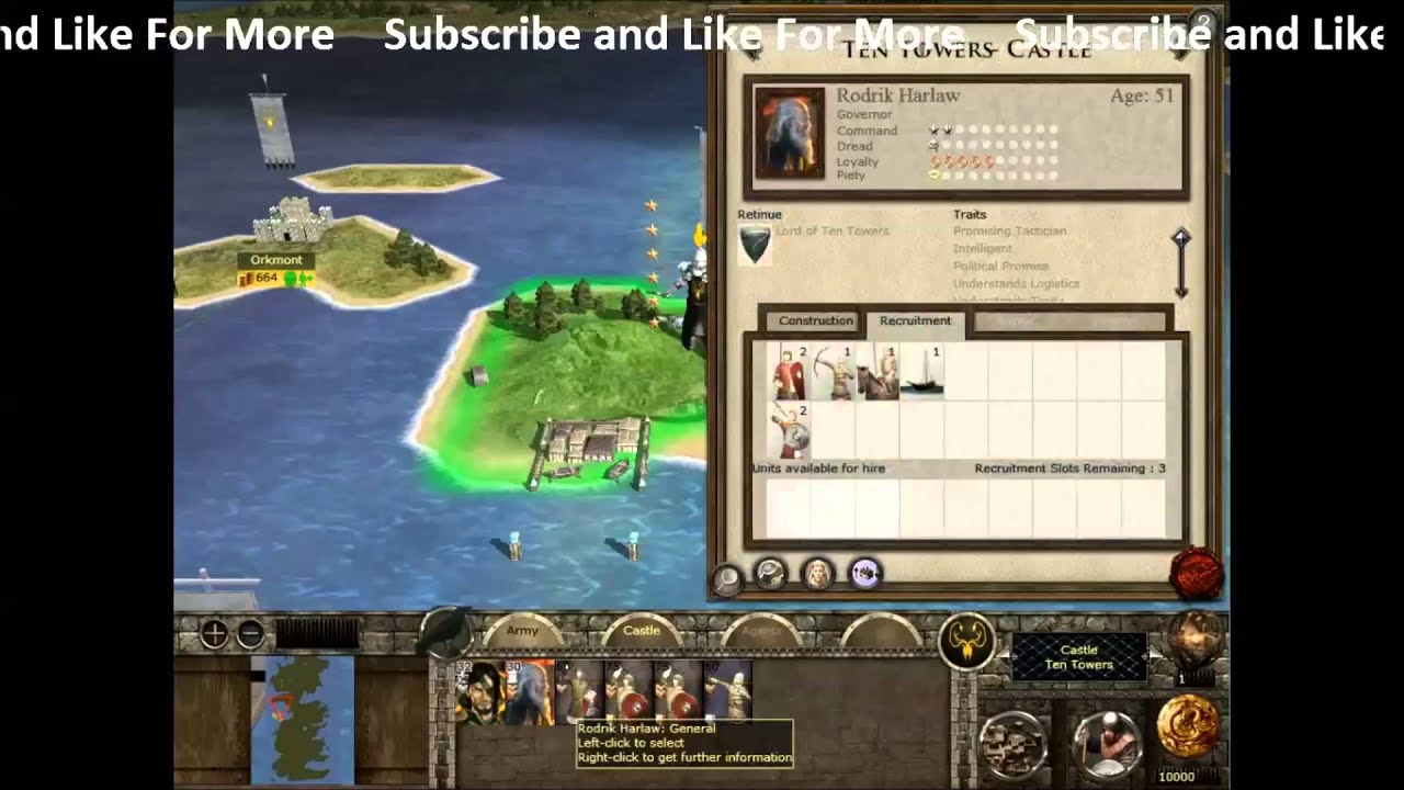 Westeros Total War Mod Part 1- The Begining - YouTube