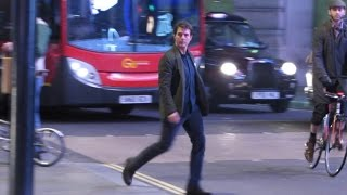 Accidental Stunt? Tom Cruise is Almost Hit by a Bus While Filming 'Mission: Impossible 5'