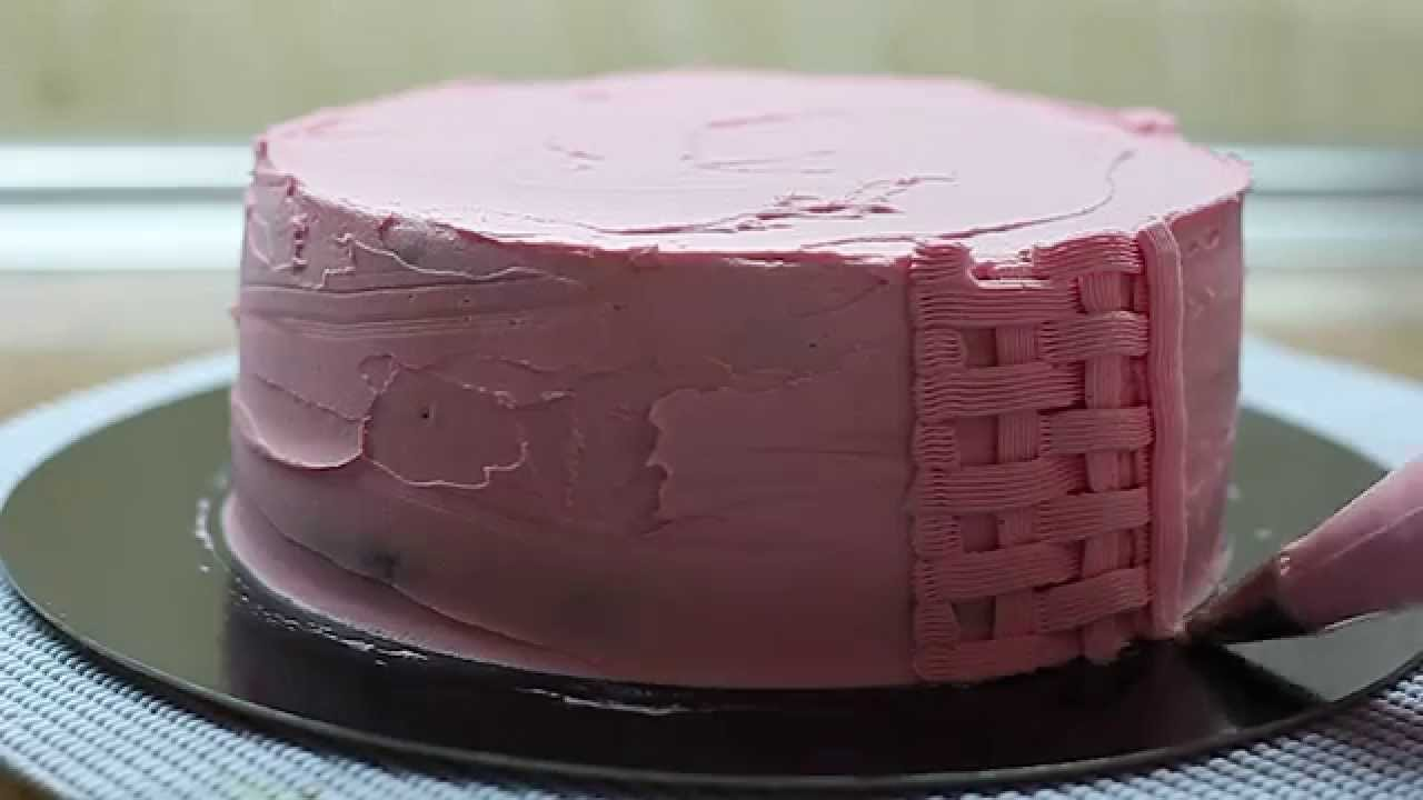 Tarta tejido de canasta youtube for Como decorar un bizcocho