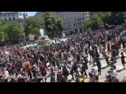 White-bourgeois Antifa rioters are burning black minority ...