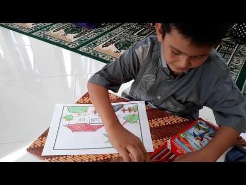 Kreasi Anak Anak Tpa Mewarnai Di Gampong Reuleung Geulumpang Kuta