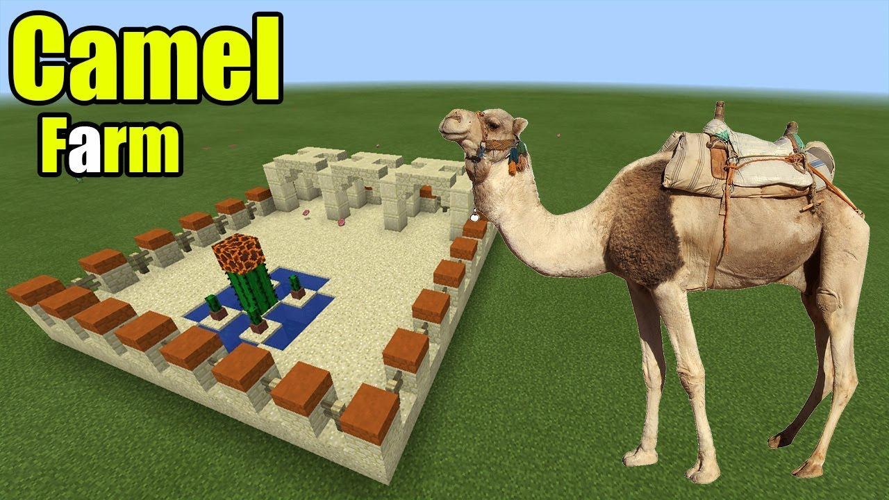 верблюд в майнкрафт построить солнцезащитных