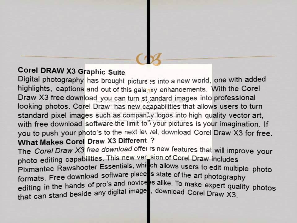 corel draw x3 version 13 free download