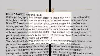 Corel DRAW X3 Graphic Suite Free Download