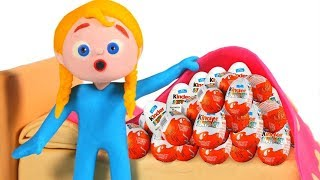 Little Girl Found The Hidden Surprise Eggs ❤ Cartoons For Kids