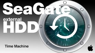 Time Machine and Seagate external Hard Drive how to format how to use set up