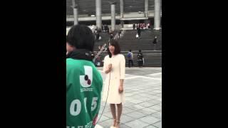 佐藤美希がゼロックススーパーカップ2016 サンフレッチェ広島vsガンバ大...