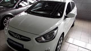 Hyundai Solaris Хэтчбек 2014 Белый смотреть