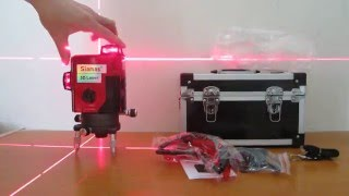 How to use Siamas 3D 360 degree line laser level SAR-3D