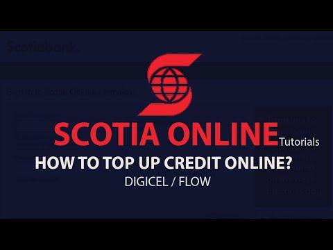 Scotia Online Tutorials - How to top up credit online?