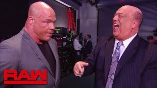 Kurt Angle asks Paul Heyman for a favor: Raw, April 2, 2018