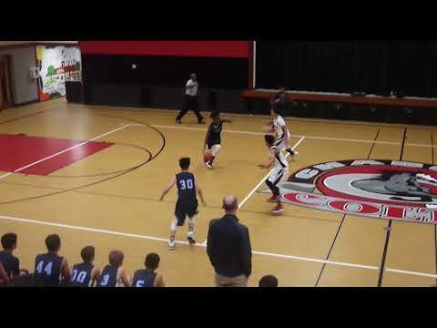 Evergreen Shootout Game 1 vs Quimby Oak Middle Valley Christian 8th grade boys basketball 2017 18