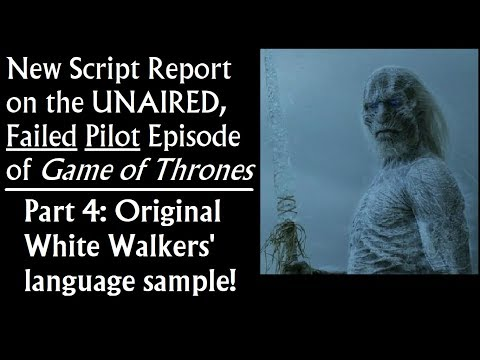 New Script Report On The Failed Pilot Episode Of Game Of Thrones (4/7)