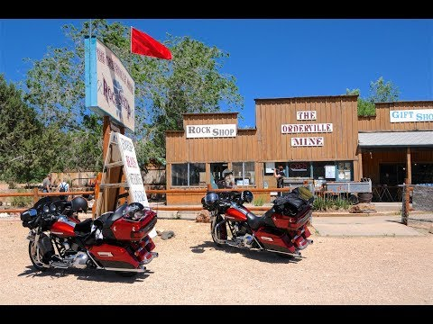 By motorcycle through the southwestern United States