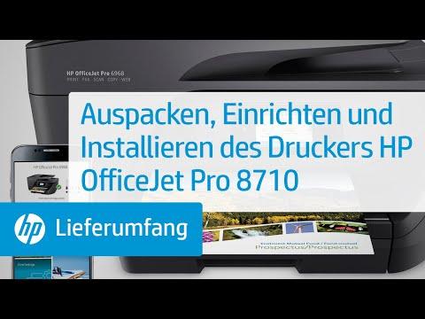 Hp Officejet Pro 8710 프린터 개봉 설정 및 설치 Doovi