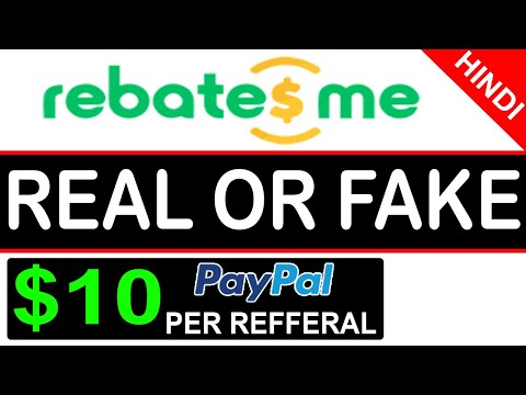 Rebatesme Review in Hindi   Real or Fake   Earn Cash Back Apps   PayPal Cash