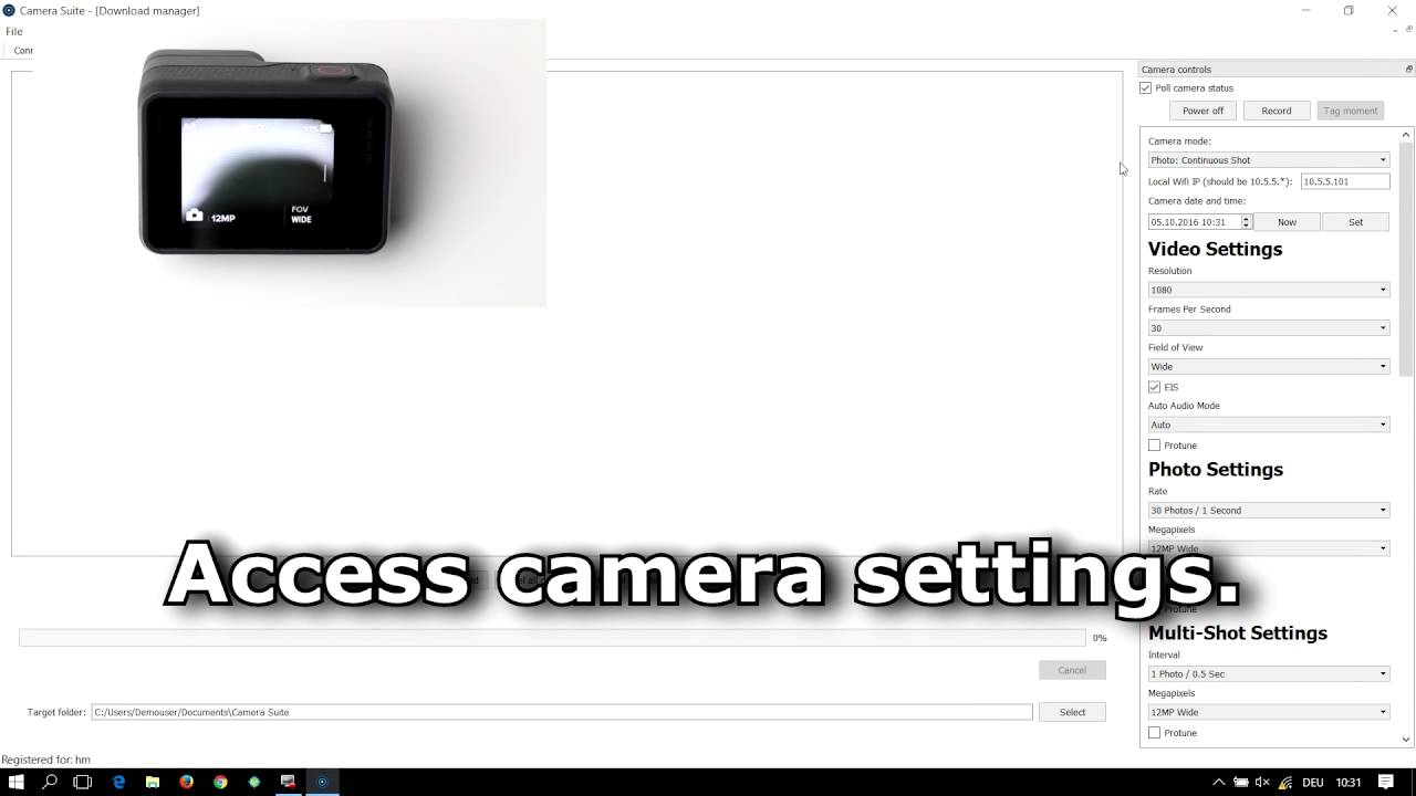 Camera Suite for GoPro Hero 5 - YouTube