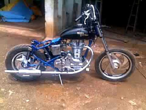 Royal Enfield Hd Wallpapers Custom Royal Enfield After Frame Modification Youtube