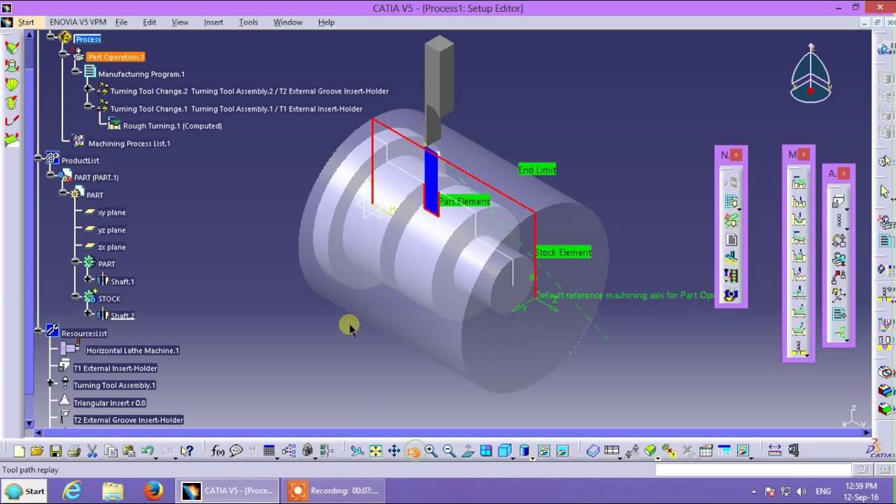 Machining cnc 5-axis: mullti axis tutorial catia v5 youtube.
