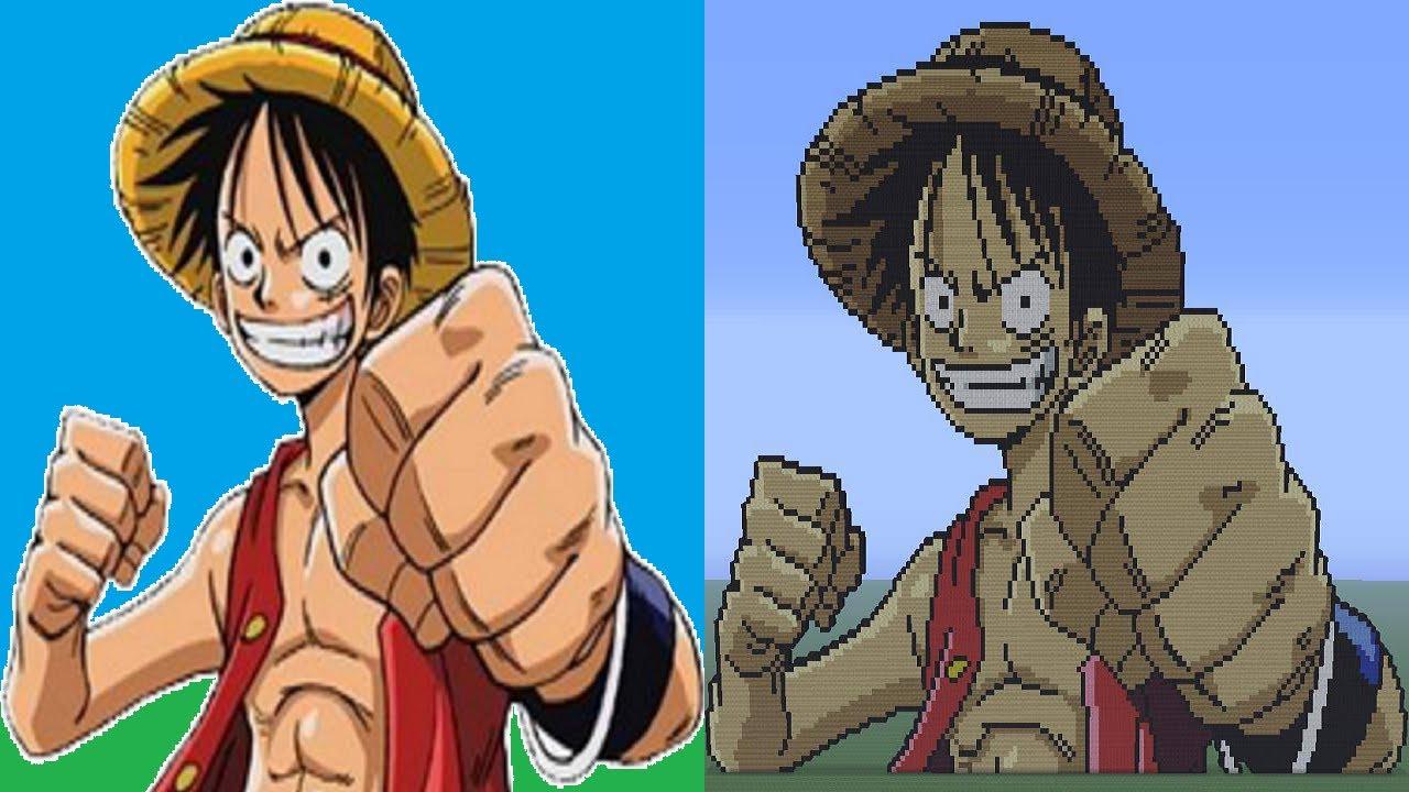 Luffy One Piece Minecraft Pixel Art Episode 9