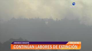 Intensifican labores para controlar incendio forestal en cerros orientales