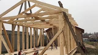 як зробити дерев'яний гараж відео своїми руками
