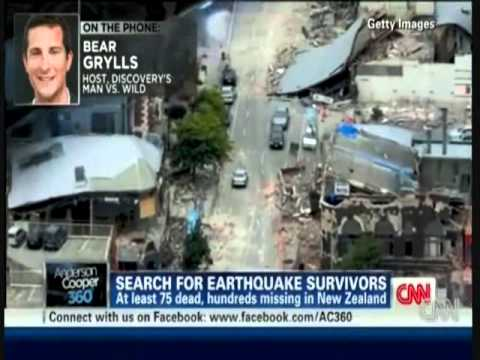 Bear Grylls Talks about NZ Earthquake On CNN