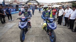Rossi and Viñales in Action at the 2017 'Yamaha GP' Event