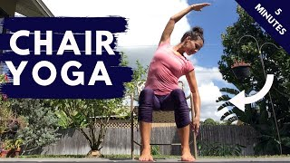 5 Minute Chair Yoga Stretch for Beginners