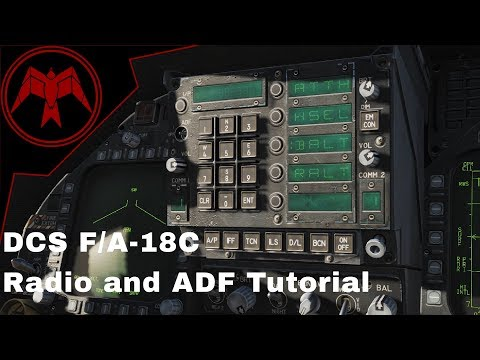 DCS F/A-18c Hornet Radio and ADF Tutorial