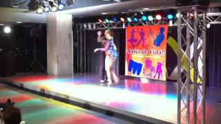 Ryu and Nonni : salsa dance performance at Tohoku Salsa Congress 2010