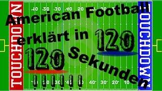 American Football REGELN einfach und kurz in 120 Sekunden - Erklärung - [deutsch|german]