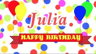 Happy Birthday Julia Song