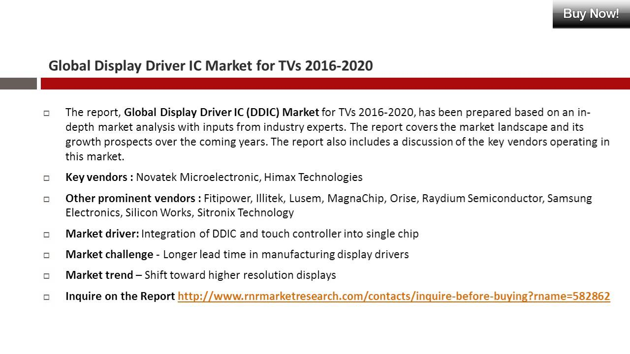 Display Driver IC Market Present Scenario and Growth