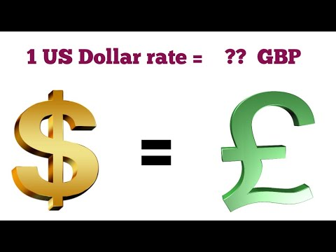 US Dollar To British Pound Sterling Exchange Rate Today | US Dollar To British Pound Exchange Rate