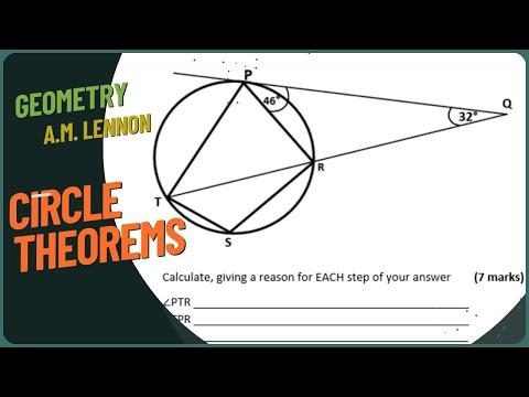 Circle Theorems (CXC CSEC and GCSE Math Revision)