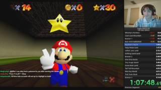 "[Highlights] Super Mario 64 ""speed"" run (part 1) - Yiff, Twitch Accounts, and Fails"