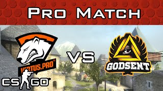 Virtus.Pro vs GODSENT from ESL Pro League Wildcard Qualifier