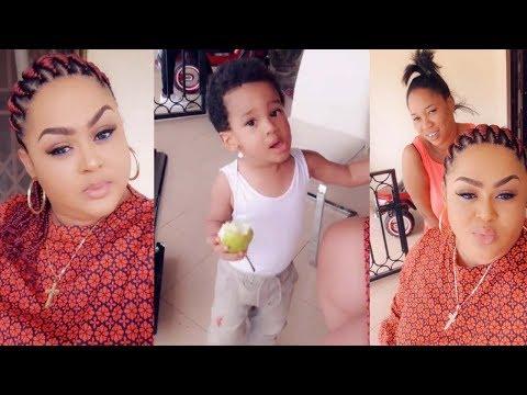 So Lovely: Watch How Actress Vivian Jill's L💖💖💖s Her Baby Boy