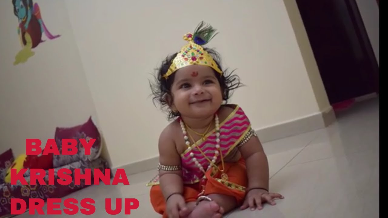 reasonable price new release new products Baby Krishna Dress Up for Krishna Janmashtami - YouTube