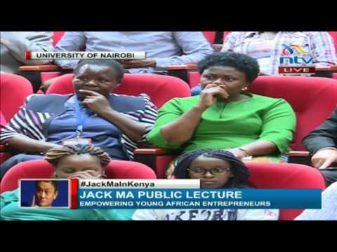 Professor Mbithi welcomes Jack Ma to University of Nairobi