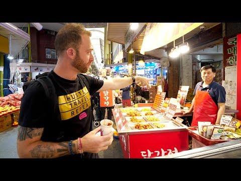 LOCAL Korean STREET FOOD Tour of Mangwon Market | Seoul, South Korea