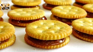 ROLO STUFFED RITZ CRACKERS - 2 INGREDIENTS