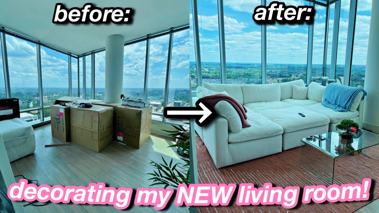 My 72 Hour Living Room Transformation! *decorating my new apartment*   Azlia Williams