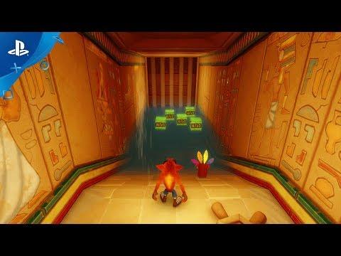 Crash Bandicoot N. Sane Trilogy - Tomb Wader Level Playthrough Video | PS4