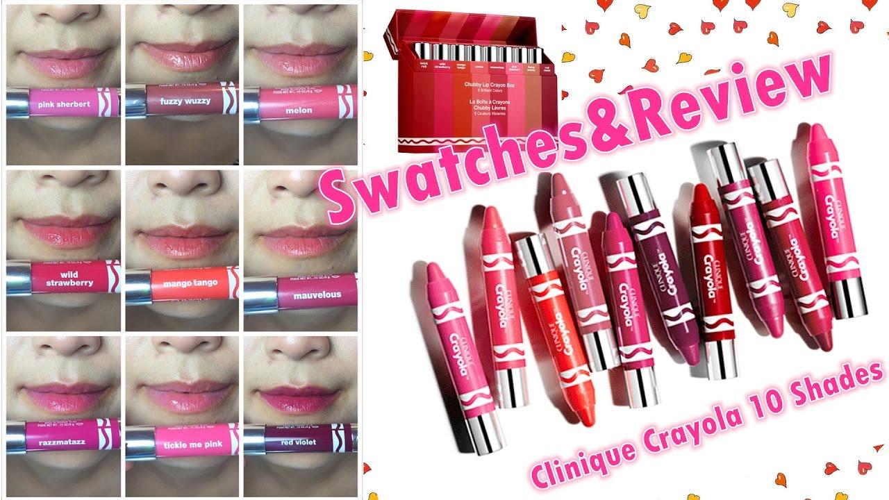 clinique crayola chubby lipsticks new10 colours clinique crayola chubby lipsticks new10 colours swatches try on review daisyblurt vmixe izmirmasajfo