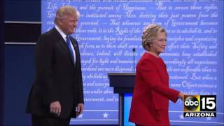 Watch their entrance! The First 2016 Presidential Debate - Donald Trump vs. Hillary Clinton